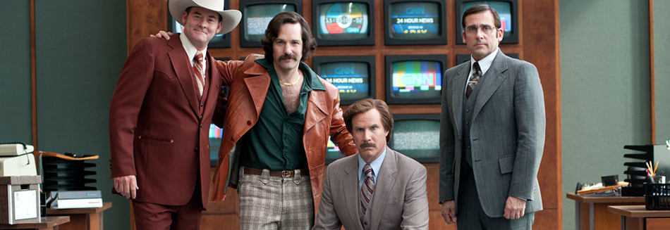 review, Anchorman 2, Anchorman, 2, film, movie, latest movies, new movie, movie ratings, current movie reviews, latest films, recent movies, current movies, movie critics, new movie reviews, latest movie reviews, latest movies out, the latest movies, review film, latest cinema releases, Australian reviews, home entertainment, DVD, Blu-ray, Will Ferrell - Ron Burgundy, Steve Carell - Brick Tamland, Paul Rudd - Brian Fantana, David Koechner - Champ Kind, Christina Applegate, Harrison Ford, James Marsden, Kristen Wiig, Adam McKay