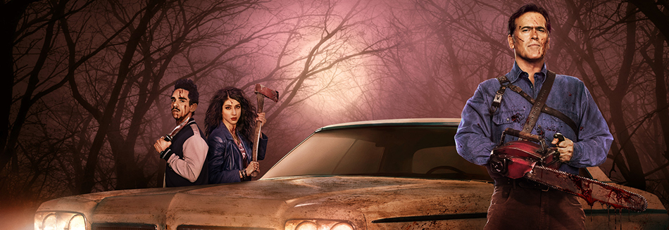 review, Ash vs Evil Dead: The Complete First Season, Ash, vs, Evil, Dead:, The, Complete, First, Season, film, movie, latest movies, new movie, movie ratings, current movie reviews, latest films, recent movies, current movies, movie critics, new movie reviews, latest movie reviews, latest movies out, the latest movies, review film, latest cinema releases, Australian reviews, home entertainment, DVD, Blu-ray, Bruce Campbell, Ray Santago, Dana Delorenzo, Lucy Lawless, Jill Marie Jones, Comedy, Horror