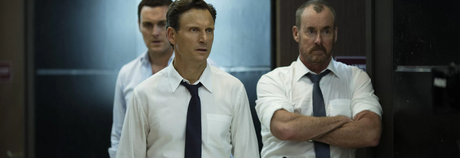 review, The Belko Experiment, The, Belko, Experiment, film, movie, latest movies, new movie, movie ratings, current movie reviews, latest films, recent movies, current movies, movie critics, new movie reviews, latest movie reviews, latest movies out, the latest movies, review film, latest cinema releases, Australian reviews, cinema, cinema reviews, John Gallagher Jr, Tony Goldwyn, Adria Arjona, John C. McGinley, Melonie Diaz, Josh Brener, Michael Rooker, Owain Yeoman, Sean Gunn, Brent Sexton, Greg McLean